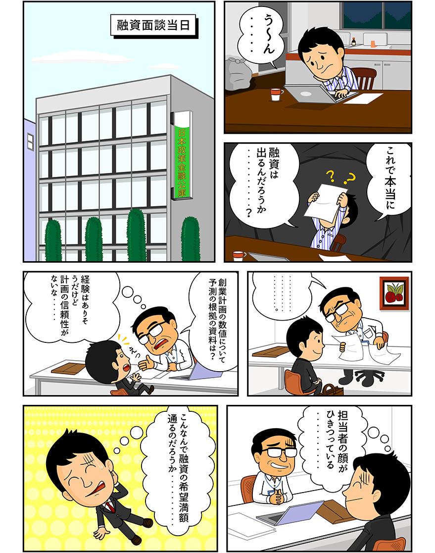 漫画「融資実行リスク」